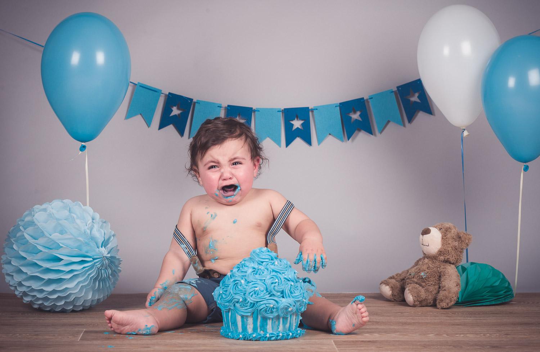 צילום יום הולדת שנה קייק סמאש של יונתן | צלם אמנון חורש